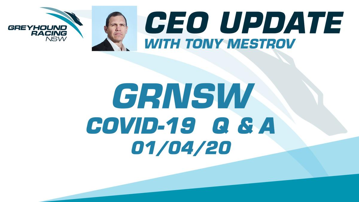 GRNSW CEO UPDATE - 01-04-2020