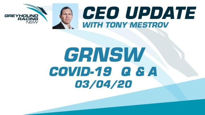 GRNSW CEO UPDATE - 03/04/2020