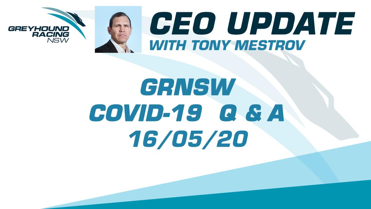 GRNSW CEO UPDATE - 16/05/2020