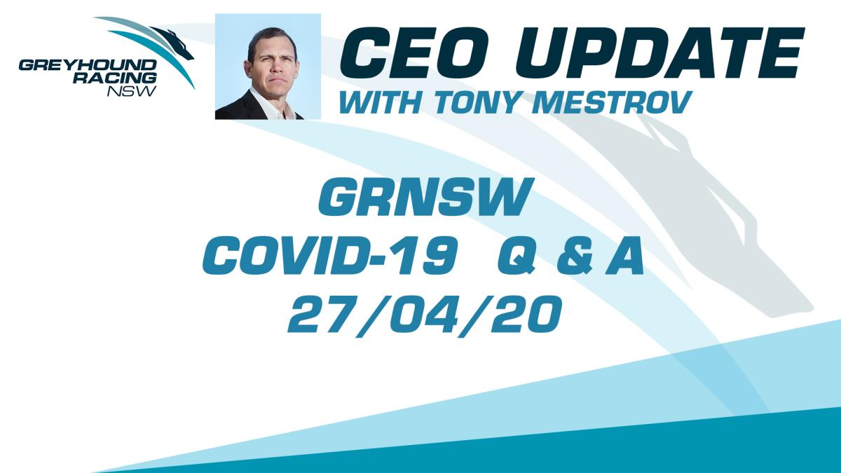 GRNSW CEO UPDATE - 27/04/2020