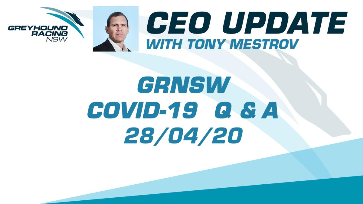 GRNSW CEO UPDATE - 28/04/2020