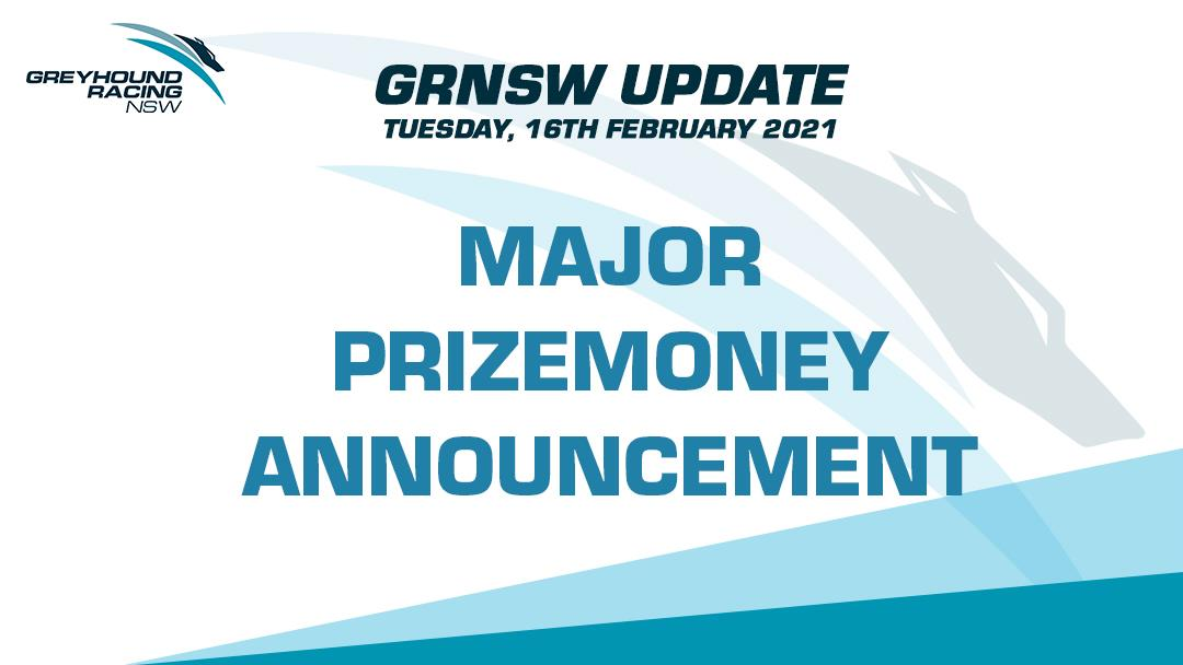 GRNSW INJECTS ADDITIONAL $1 MILLION INTO PRIZEMONEY