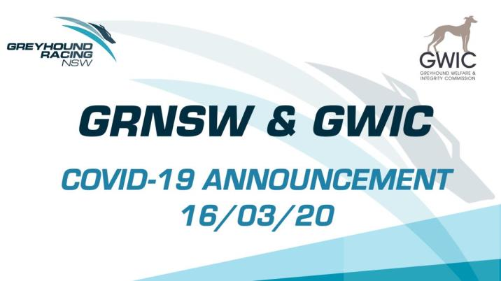 JOINT MESSAGE FROM GRNSW AND GWIC ON COVID-19