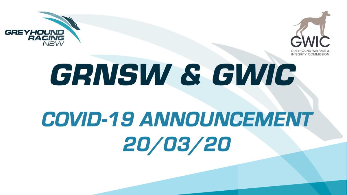 STATEMENT FROM GRNSW  AND GWIC ON COVID-19